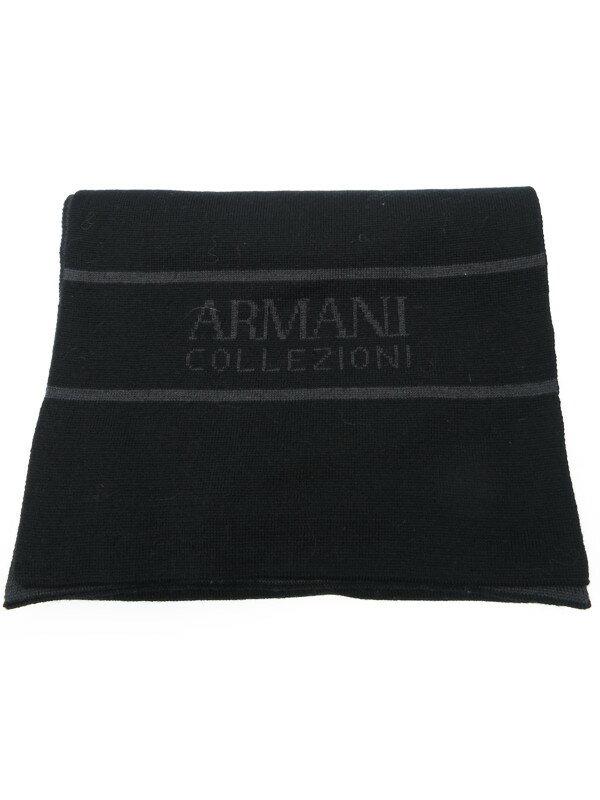 【ARMANI COLLEZIONI】アルマーニコレッツォーニ『ウール混マフラー』メンズ 1週間保証【中古】