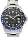 【ROLEX】【'18年購入】ロレックス『GMTマスター2 青×黒ベゼル』116710BLNR ランダム番 メンズ 自動巻き 12ヶ月保証【中古】b01w/h08A