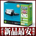 任天堂『WiiU(ウィーユー)すぐに遊べるファミリープレミアムセット+Wii Fit U』クロ ゲーム本体【訳あり】【新品】b00e/N