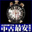 ガガミラノ『マヌアーレ クロノ 48mm』6050.6 メンズ クォーツ 3ヶ月保証【中古】b03w/h07AB
