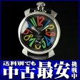 ガガミラノ『マヌアーレ ACCIAIO 48mm』5010.2S メンズ 手巻き 1ヶ月保証【中古】b06w/h17A