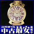 ガガミラノ『マヌアーレ スリム 46mm』5081.3 メンズ クォーツ 1ヶ月保証【中古】b06w/h17B