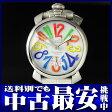 ガガミラノ『マヌアーレ 48mm』5010.1 メンズ 手巻き 1ヶ月保証【中古】b01w/h12BC
