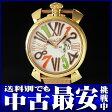 ガガミラノ『マヌアーレ スリム 46mm』メンズ クォーツ 1ヶ月保証【中古】b02w/h03AB