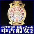 ガガミラノ『マヌアーレスリム 46mm』5081.1 メンズ クォーツ 1ヶ月保証【中古】b02w/h03AB