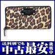 ケイトスペード『july leopard』PWRU1476 レディース 長財布 1週間保証【中古】b05b/h10A
