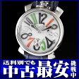 ガガミラノ『マヌアーレ ACCIAIO 48mm』5010.2W メンズ 手巻き 1ヶ月保証【中古】b02w/h09B
