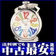 ガガミラノ『マヌアーレ 48mm』5010.1 メンズ 手巻き 1ヶ月保証【中古】b02w/h19AB