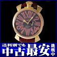 ガガミラノ『マヌアーレ スリム 46mm』5085.3 メンズ クォーツ 1ヶ月保証【中古】b03w/h07AB