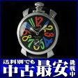 ガガミラノ『マヌアーレ 48mm』5010.2 メンズ 手巻き 1ヶ月保証【中古】b05w/h10B