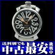 ガガミラノ『マヌアーレ 48mm』5010.6 メンズ 手巻き 1ヶ月保証【中古】b03w/h15B