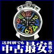 ガガミラノ『マヌアーレ クロノグラフ 48mm』5050.2 メンズ クォーツ 1ヶ月保証【中古】b02w/h09A