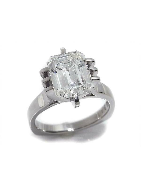 【ソーティング】【仕上済】セレクトジュエリー『PT900リング ダイヤモンド3.475ct/H/VS-1』1週間保証【中古】