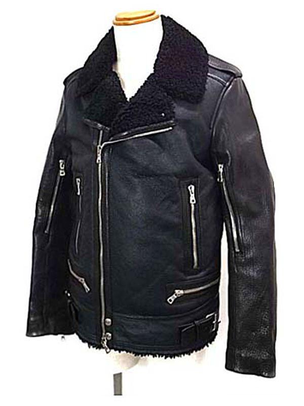 【BALMAIN】【アウター】バルマン『ムートンライダースジャケット size50』メンズ ブルゾン 1週間保証【中古】