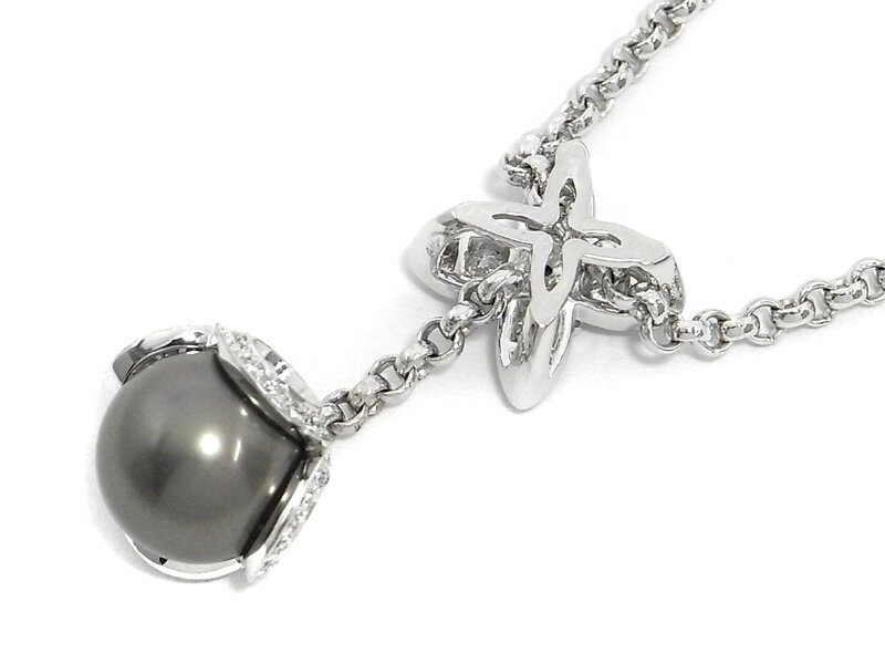 louis vuitton lv monogram k18wg white gold diamond pearl. Black Bedroom Furniture Sets. Home Design Ideas