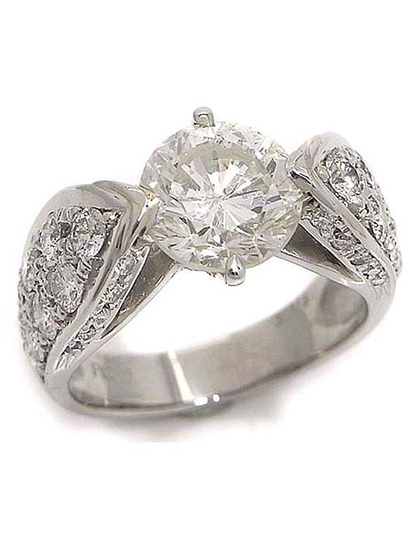 【仕上済】【ソーティング】セレクトジュエリー『PT900リング ダイヤモンド3.115ct/K/I-1/GOOD 1.53ct』15号 1週間保証【中古】