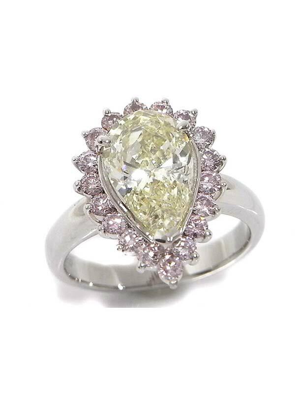 【ソーティング】【仕上済】セレクトジュエリー『PT900リング ダイヤモンド3.005ct/VLY/SI-2 0.671ct』12号 1週間保証【中古】