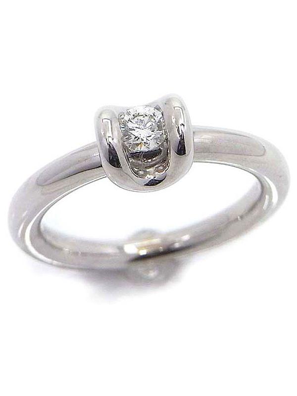【DAMIANI】ダミアーニ『K18WGリング 1Pダイヤモンド』12.5号 1週間保証【中古】