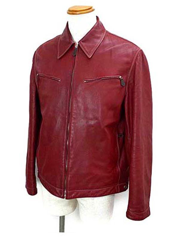 【HERMES】【アウター】エルメス『ラムスキン シングルレザージャケット size48』メンズ ブルゾン 1週間保証【中古】