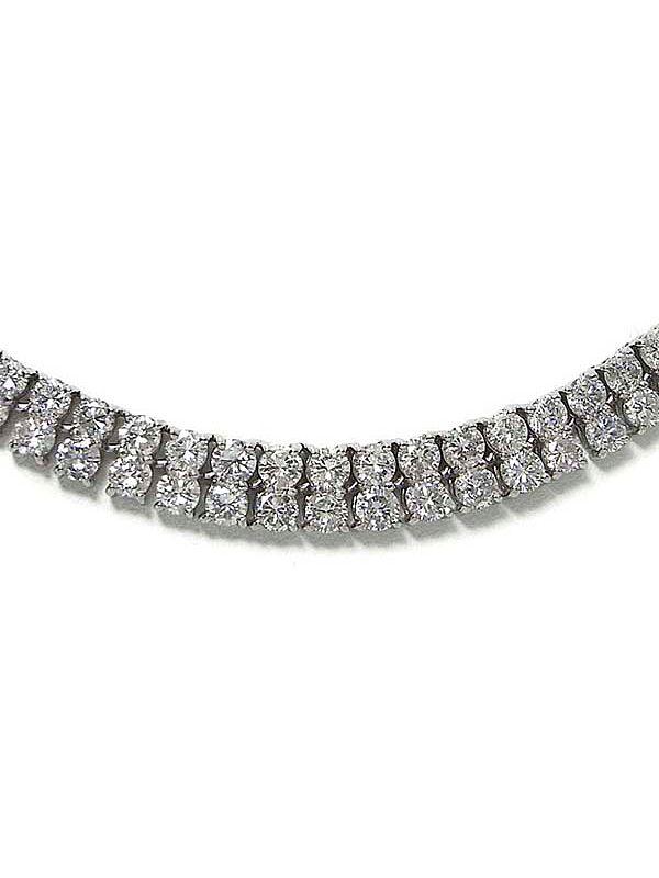 セレクトジュエリー『PT850ネックレス ダイヤモンド15.00ct』1週間保証【中古】