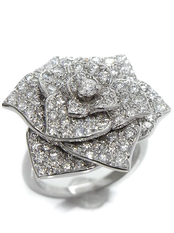 【PIAGET】【Piaget Rose】【仕上済】ピアジェ『K18WGリング ローズ ダイヤ』11.5号 1週間保証【中古】