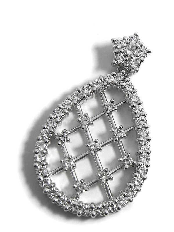 セレクトジュエリー『PT900ペンダントトップ ダイヤモンド1.20ct ドロップモチーフ』1週間保証【中古】