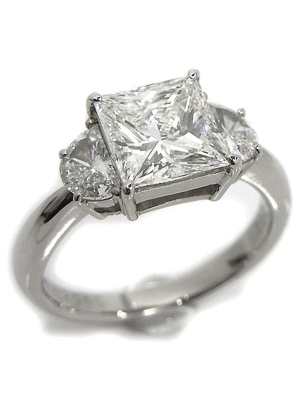 【ソーティング】【仕上済】セレクトジュエリー『PT900リング ダイヤモンド2.041ct/G/VS-1 0.30ct 0.32ct』12号 1週間保証【中古】