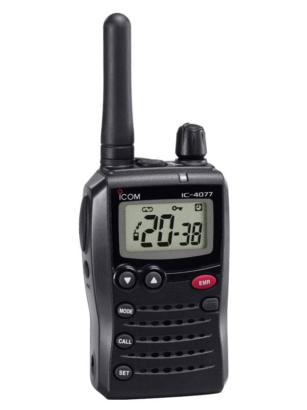 アイコム『特定小電力トランシーバー』IC-4077S 免許不要 アナログ 交互通話 充電池付属【中古】