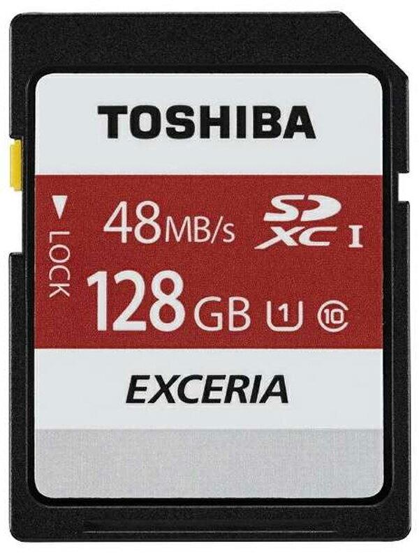 ���ŁwEXCERIA SDXC�������J�[�h�xSD-FU128G 128GB UHS-I SD�X�s�[�h�N���X10 �ǂݏo���ő�48MB/s�y�V�i�z