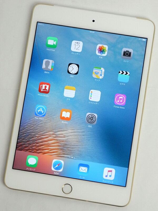�A�b�v���wiPad mini 4 Wi-Fi + Cellular 16GB docomo�xMK712J/A �S�[���h ������ �^�u���b�g�y���Áz