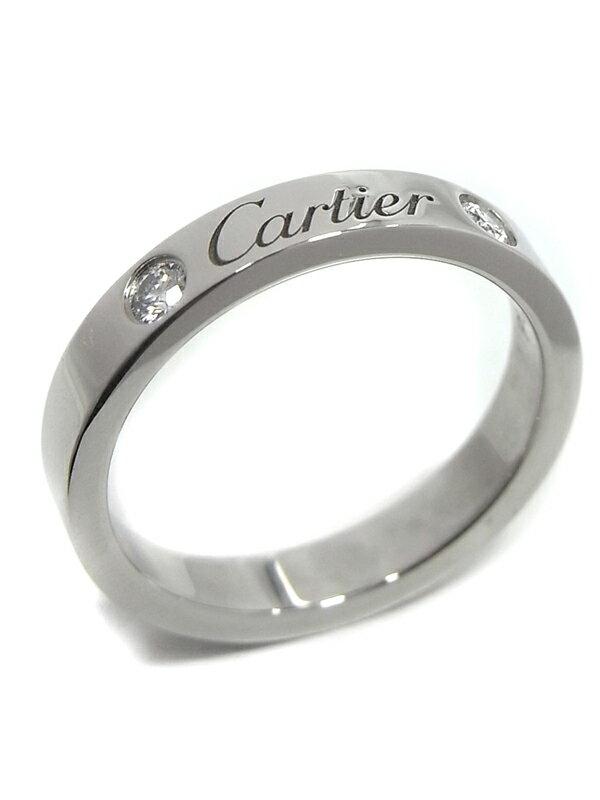 【Cartier】【仕上済】カルティエ『エングレーブド リング 2Pダイヤ』7号 1週間保証【中古】
