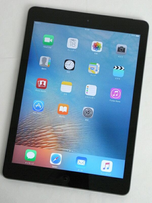 �A�b�v���wiPad Air Wi-Fi + Cellular 16GB SoftBank�xMD791J/A �X�y�[�X�O���C ������ �^�u���b�g�y���Áz