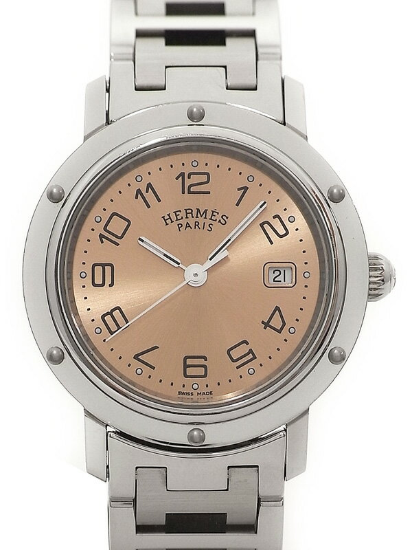 【HERMES】【電池交換済】エルメス『クリッパー』CL6.410.431/3831 ボーイズ クォーツ 1ヶ月保証【中古】