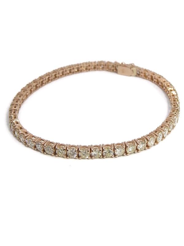 セレクトジュエリー『K18PGブレスレット ダイヤモンド10.05ct テニスブレス』1週間保証【中古】