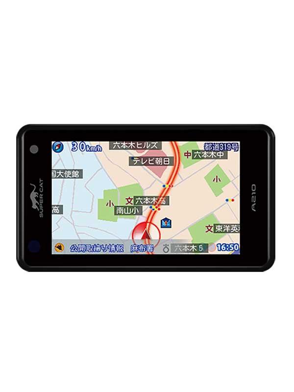 【Yupiteru】ユピテル『SuperCat(スーパーキャット)』A210 3.6インチ ワンボディタイプ GPS&レーダー探知機【新品】