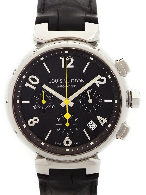 【LOUIS VUITTON】ルイヴィトン『タンブール クロノグラフ』Q1121 メンズ 自動巻き 3ヶ月保証【中古】