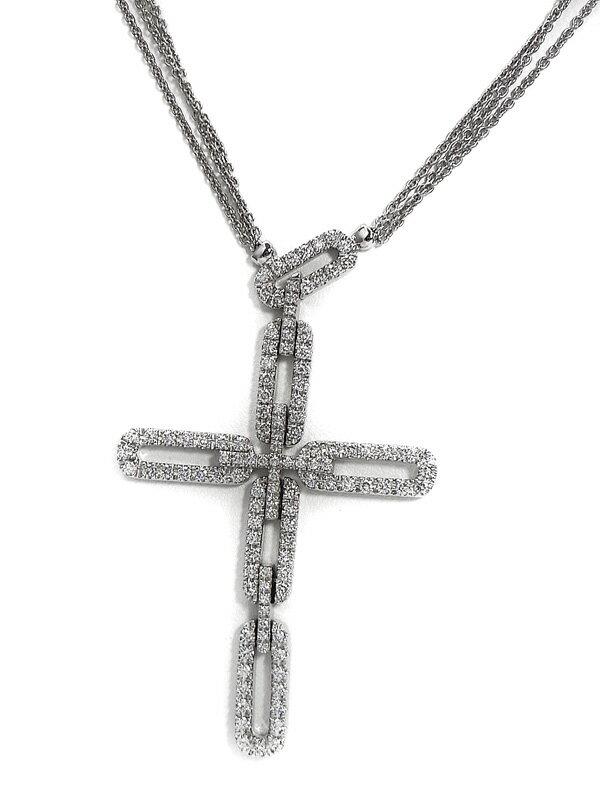 【DAMIANI】ダミアーニ『K18WGネックレス ダイヤモンド』1週間保証【中古】