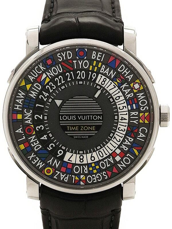【LOUIS VUITTON】【メーカー点検済】ルイヴィトン『エスカル オートマティック タイムゾーン』Q5D200 メンズ 自動巻き 6ヶ月保証【中古】