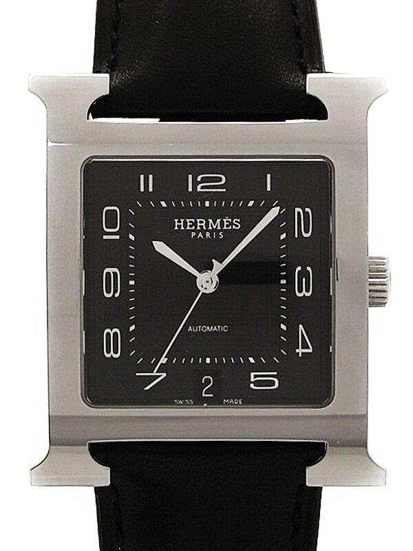 【HERMES】【'16年購入】エルメス『Hウォッチ』HH2.810.330 メンズ 自動巻き 3ヶ月保証【中古】