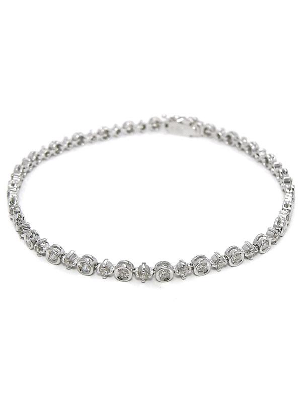 セレクトジュエリー『K18WGブレスレット ダイヤモンド1.58ct』1週間保証【中古】