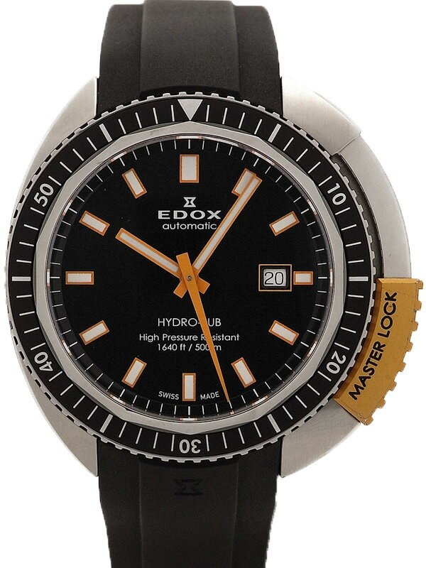 【EDOX】【OH済】エドックス『ハイドロサブ オートマチック』80301-3NOCA-NIN メンズ 自動巻き 1ヶ月保証【中古】