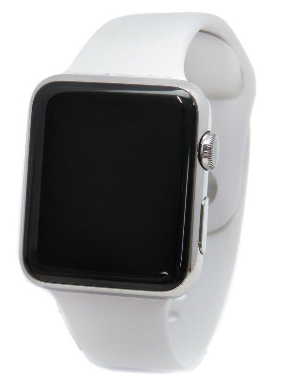 �yApple�z�y�A�b�v���E�H�b�`�z�A�b�v���wApple Watch 42mm�xMJ3V2J/A ���j�Z�b�N�X �z���C�g�X�|�[�c�o���h �r���v�^�[�� 1�T�ԕۏy���Áz