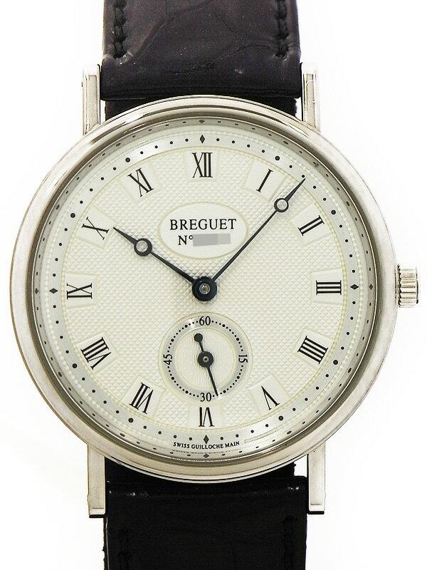 【Breguet】【WGケース】【内部点検・仕上済】ブレゲ『クラシック』BB3910/15/984 メンズ 手巻き 6ヶ月保証【中古】