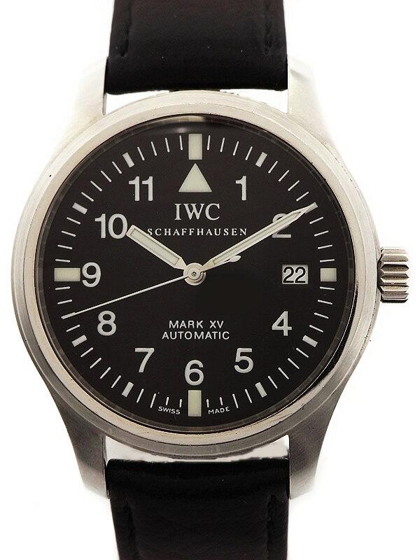 【IWC】【マークXV】【ベルト交換済】インターナショナルウォッチカンパニー『パイロットウォッチ マーク15』IW325301 メンズ 自動巻き 3ヶ月保証【中古】