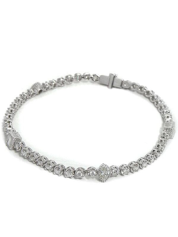 【仕上済】セレクトジュエリー『K18WGブレスレット ダイヤモンド』1週間保証【中古】