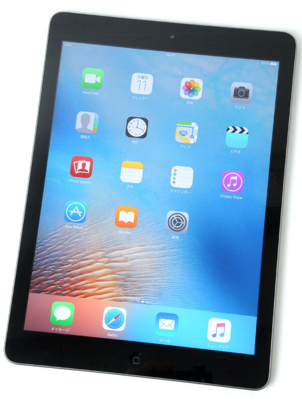 �yApple�z�A�b�v���wiPad Air Wi-Fi 16GB�xMD785J/A �X�y�[�X�O���C 9.7�^�C���`Retina iOS9.3.5 �^�u���b�g�y���Áz