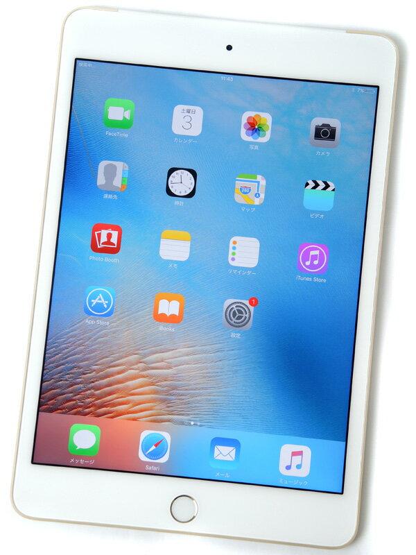 �yApple�z�A�b�v���wiPad mini 4 Wi-Fi + Cellular 16GB au�xMK712J/A �S�[���h iOS9.2.1 7.9�^ �^�u���b�g�y���Áz