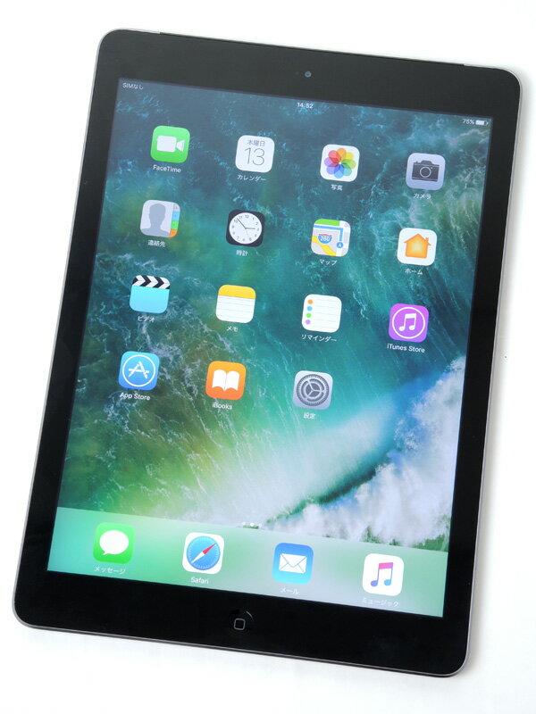 �yApple�z�A�b�v���wiPad Air Wi-Fi + Cellular 16GB SoftBank�xMD791J/A �X�y�[�X�O���C iOS10.0.2 9.7�^ ������ �^�u���b�g�y���Áz