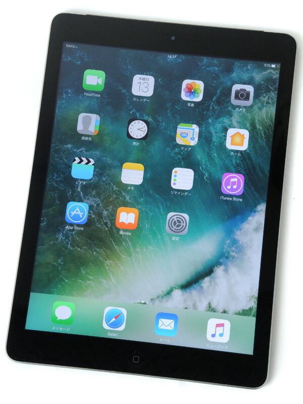 �yApple�z�A�b�v���wiPad Air Wi-Fi + Cellular 16GB au�xMD791JA/A �X�y�[�X�O���C iOS10.0.2 9.7�^ ������ �^�u���b�g�y���Áz
