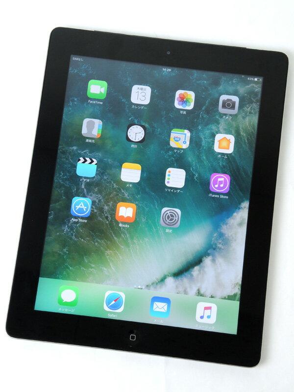 �yApple�z�A�b�v���wiPad ��4���� Wi-Fi + Cellular 16GB SoftBank�xMD522J/A �u���b�N iOS10.0.2 9.7�^ ������ �^�u���b�g�y���Áz